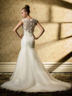 lace top mermaid wedding gown DBW028 (1)