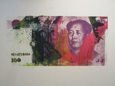 David Lawrence / found on www.kunzt.gallery / The RMB Series #5, 2012 / Serigraph
