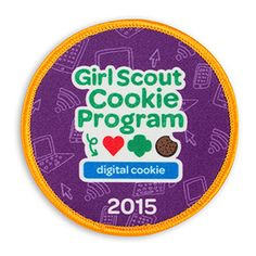 2015 GIRL SCOUT PROGRAM DIGITAL COOKIE SEW-ON PATCH Girl Scouts Usa, Daisy Girl Scouts, Gs Cookies, Girl Scout Patches, Cookie Time, Girl Scout Cookies, Sew On Patches, Badges, Cookie Ideas