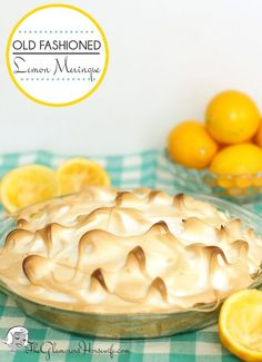 This old fashioned lemon meringue pie tastes like spring! Perfect to get you out of your winter funk.