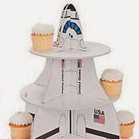 Fiesta Espacial: Stand para Cupcakes. Tutorial con Plantilla.