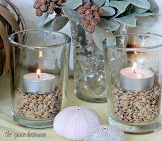 5 fall centerpiece ideas - Lentils
