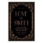 Black Great Gatsby Art Deco Love is Sweet Poster #weddinginspiration #wedding #weddinginvitions #weddingideas #bride