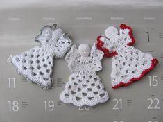 Crochet angel Christmas ornament Home decor by InKasTrifles Crochet Christmas Ornaments, Christmas Crochet Patterns, Christmas Crafts For Gifts, Christmas Angels, Crochet Snowflakes, Christmas Christmas, Crochet Thread Size 10, Love Crochet, Hand Crochet