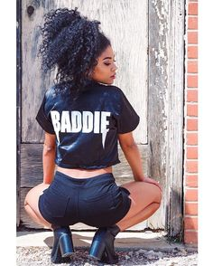 This Silk baddie crop baseball jersey from @thugave