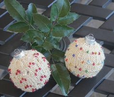 Soo nice knitted and beaded Christmas tree ornament  Pattern - Craftsy