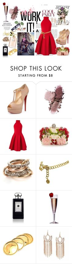 """LOOK - 596"" by claudia-senna ❤ liked on Polyvore featuring KAROLINA, Burton, Christian Louboutin, Miss Selfridge, Alexander McQueen, SPINELLI KILCOLLIN, Chanel, Jo Malone, Improvements and Cartier"