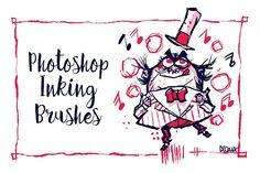 Photoshop Inking Brushes by Francisco Beltrán on @creativemarket