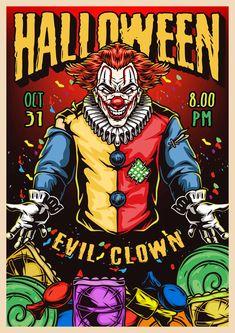 Spooky Halloween party 2021 poster vector design by DGIM Studio. Download Halloween designs on www.dgimstudio.com.