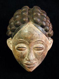Punu Mask Punu people, Ngunie river, Gabon