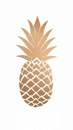 White Gold pineapple iphone wallpaper phone background lock screen