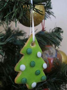 Cookies decoradas para colgar del arbolito