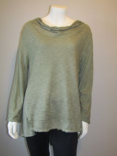 Lagenlook cowl neck top green 1527 Cowl Neck Top, Tunic Tops, Pullover, Green, Sweaters, Collection, Fashion, Moda, Sweater