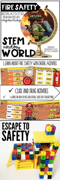 Let's make social studies FUN for young students with digital activities and a hands-on STEM challenge! Fire Safety STEM   Kindergarten, first grade, second grade