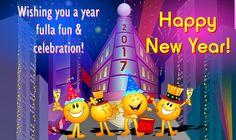 Kids New Year 2017 Wishing Cards