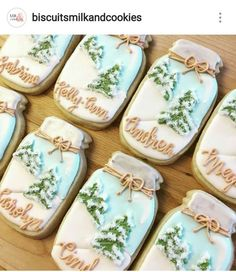 Easy and Fun Christmas Treats for Kids to Make – Sugar Cookies Mason jar cookies winter scene Christmas Sugar Cookies, Christmas Sweets, Holiday Cookies, Simple Christmas, Mason Jar Christmas, Christmas Ideas, Christmas Cookie Jars, Christmas Desserts Easy, Christmas Recipes