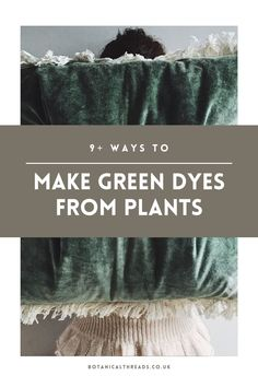 Shibori, Natural Dye Fabric, Natural Dyeing, How To Dye Fabric, Dyeing Fabric, Diy Arts And Crafts, Diy Crafts, Fabric Crafts, How To Make Greens