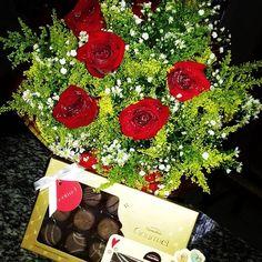rosas buque manaus chocolates cacau show presente por R$160,00