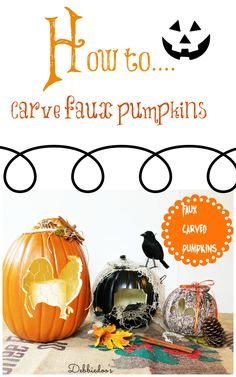 Faux Carved Pumpkins by @deb rouse schwedhelm rouse schwedhelm Depew's #MPumpkins