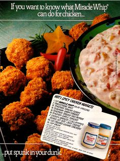 Hot and Spicy Chicken Nuggets using Miracle Whip from 1989