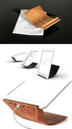 a minimalist stand matching the ipad's elegance by yohann