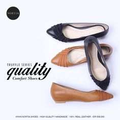 Another lovely collection, Truffle Series! Grab it fast Ladies! For more collection, check out www.nortia.shoes #leathershoes #flats #fashion #highquality #comfort