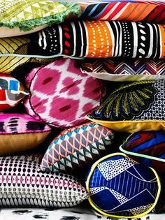 Ikat, African inspired prints and patterns - simple but effective way to accessorise.
