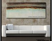 Modern, Abstract, Canvas Painting, NEW ORIGINAL, Textured  Ready to Hang. 60x24x1.5inch HUGE!....ELOISExxx