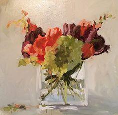 Fall Flowers by Laura Lacambra Shubert Oil ~ 24 x 24