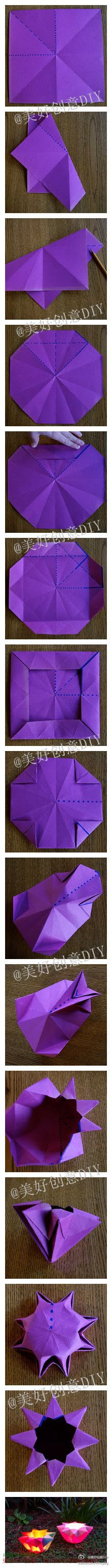 Linternas de papel plegado, origami no se pierda por favor, preste atención a DIY creativo.. tutorial