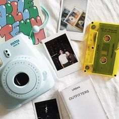 - Urban Outfitters Polaroids are my fav thing right now Instax Camera, Fujifilm Instax Mini 8, Polaroid Camera Pictures, Polaroid Cameras, Camara Fujifilm, Fuji Camera, Little Presents, Old Cameras, Thats The Way