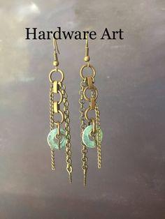 Hardware Art Jewelry - Industrial Screw Dangles