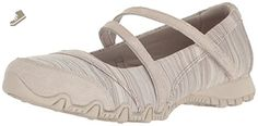 Skechers Women's Bikers-Ripples Mary Jane Flat, Taupe Knit, 8 M US - Skechers flats for women (*Amazon Partner-Link)