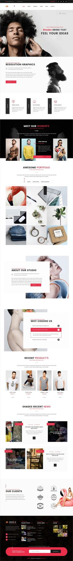 Shades is a wonderful portfolio #WordPress #template for business or #creative agency websites with 6 unique homepage layouts download now➩ https://themeforest.net/item/shades-creative-multipurpose-reponsive-wordpress-theme/19061398?ref=Datasata