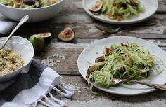Nutrition Stripped | Fig Zucchini Pasta with Hemp Seed Crumble | http://nutritionstripped.com/fig-zucchini-pasta-with-hemp-seed-crumble/ #vegan #rawvegan #wholefoods #healthy