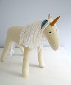 Unicorns and Horses Plush Pattern. $6.00, via Etsy.