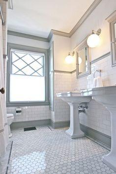 Home Renovation Bathroom 25 Amazing Victorian Bathroom Design Ideas Best Bathroom Tiles, Bathroom Tile Designs, Bathroom Wallpaper, Bathroom Layout, Dream Bathrooms, Bathroom Interior Design, Amazing Bathrooms, Bathroom Ideas, Bathroom Organization