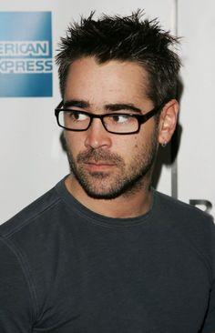 Colin Farrell - love the hair and rockin' the geeky glasses