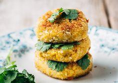 Vegetarisch gourmetten Vegetarian Burgers, Salmon Burgers, Food For Thought, Fondue, Balls, Bbq, Diet, Baking, Ethnic Recipes