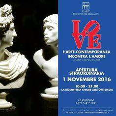 La mostra LOVE è aperta tutti i giorni. Oggi martedì 1 novembre apertura straordinaria dalle 10.00 alle 21.00 (la biglietteria chiude unora prima). #chiostrolove  Info T 069151941