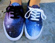 DIY Galaxy Shoes #DIY @Melissa Squires Saltzman I LOVE the galaxy tie dye look!