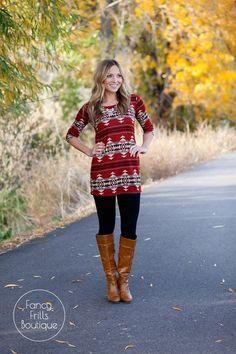 Aztec Tunic Sweater!