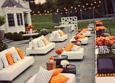 Outdoor seating for fair weather events