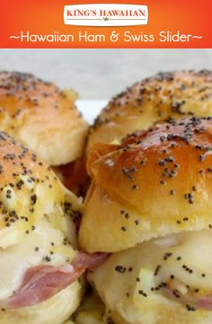 Make these quick and easy ham and Swiss sliders pop by adding some poppy seeds on top!