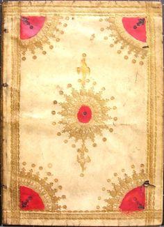 17th-century English (Cambridge) limp vellum binding with decoration in gilt and hand-colouring. FromGratulatio Academiae Cantabrigiensis de serenissimi principis reditu ex Hispaniis exoptatissimo(Cambridge, 1623).