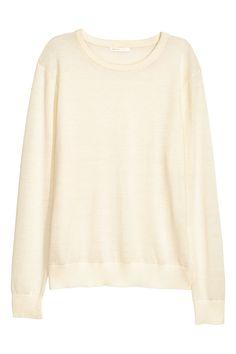 Merino wool jumper - Natural white - Ladies | H&M 1