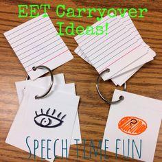 Speech Time Fun: EET Carryover Ideas!!