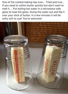 Use vegan margarine only. The Best Baking Hacks - Princess Pinky Girl Use vegan margarine only. The Best Baking Hacks - Princess Pinky Girl Creative Kitchen, Kitchen Tips, Creative Food, Think Food, Tips & Tricks, Baking Tips, Baking Hacks, Baking Secrets, Stick Of Butter