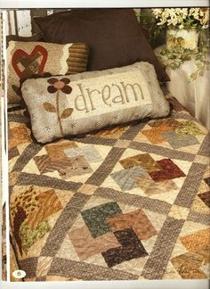 Beautiful Card Trick Quilt...usually see this in brights...love the neutral colors!