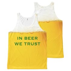 In Beer We Trust Funny Slogan All-Over Print Tank Top Tank Tops